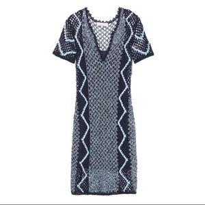 Sandro Paris crochet knit dress